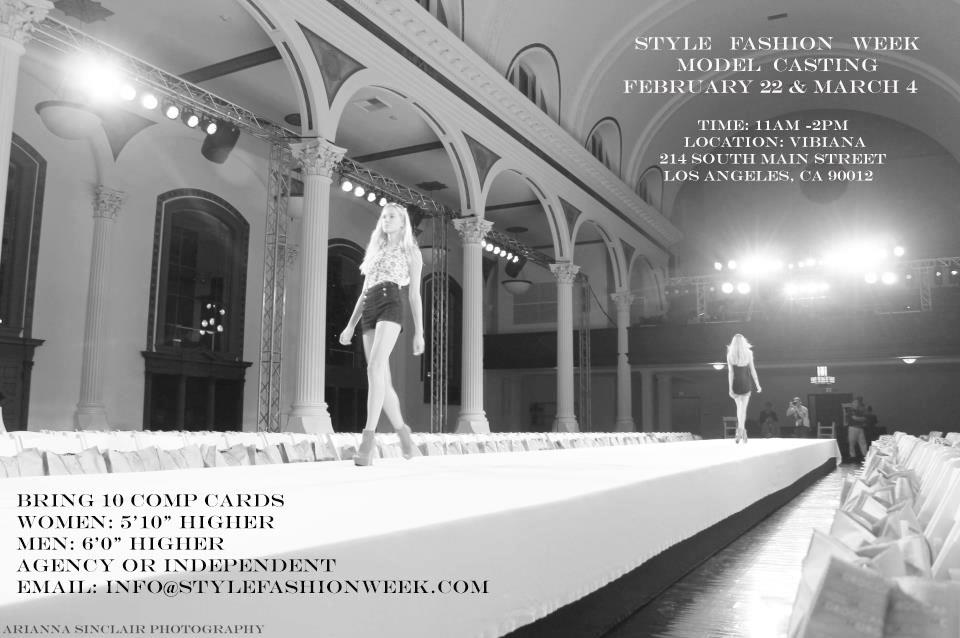 March 2013 – Style Fashion Week Casting Call