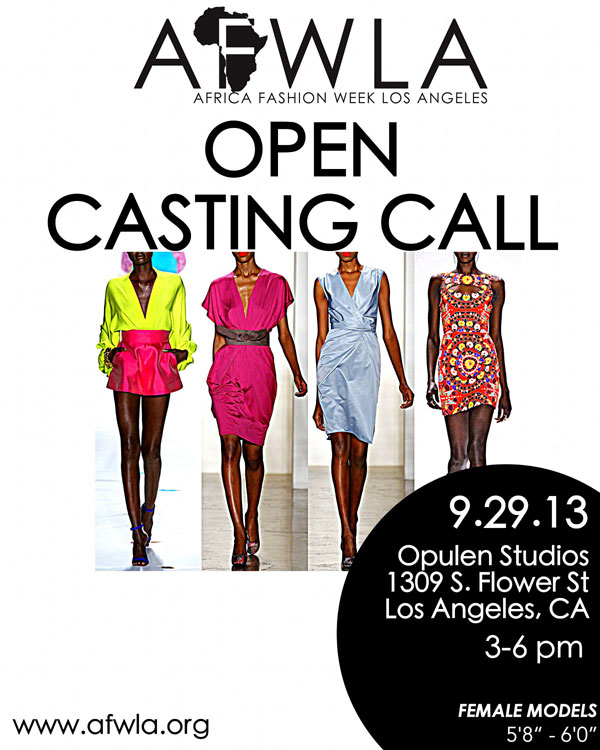 October 2013 – LA Fashion Week Model Calls