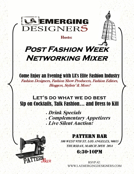 LA Emerging Designers Host: Post Fashion Week Networking Mixer