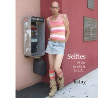 my book: Selfies of Me in Skirts in L.A.